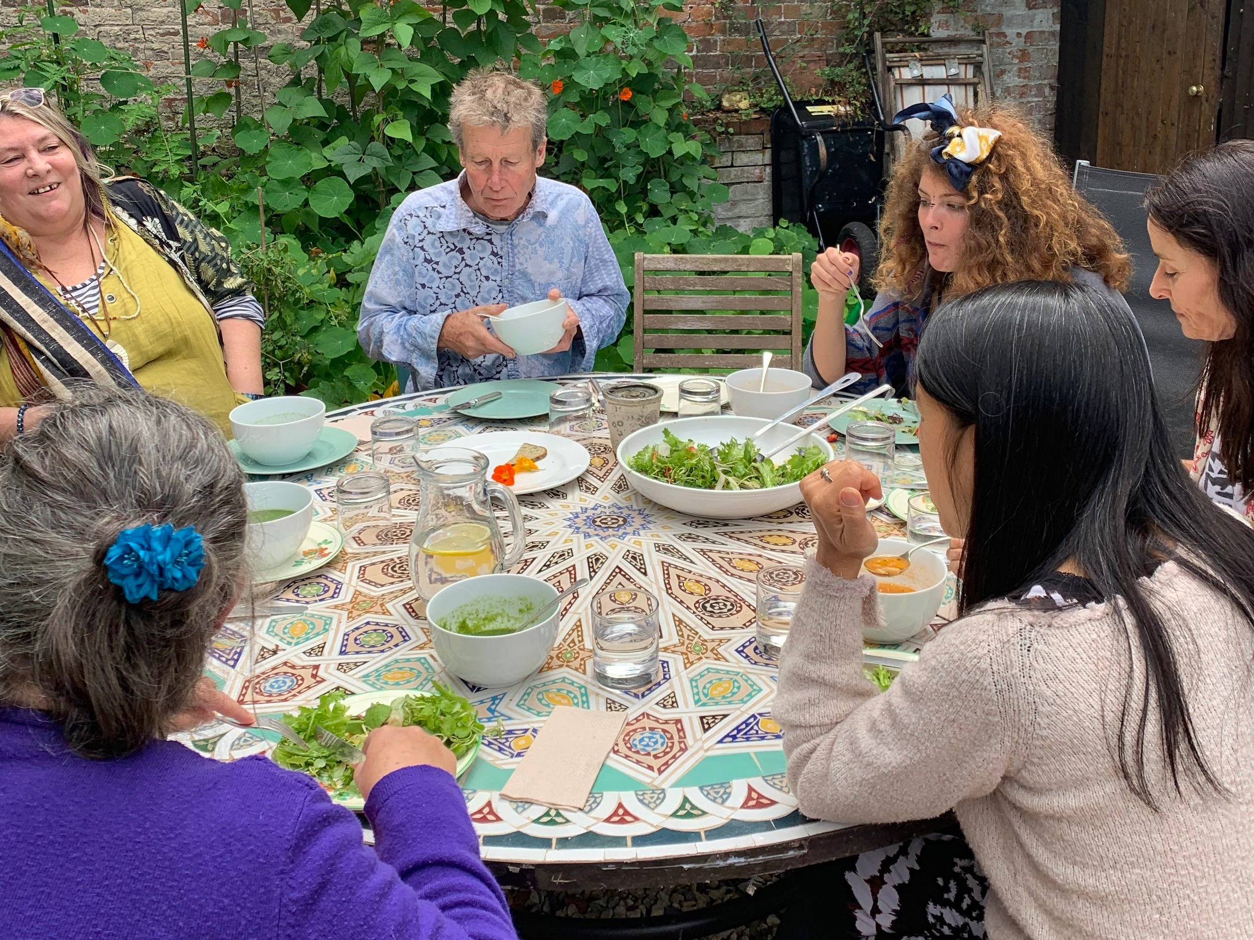 Some of our guest enjoying a healthy lunch during the Workshop.