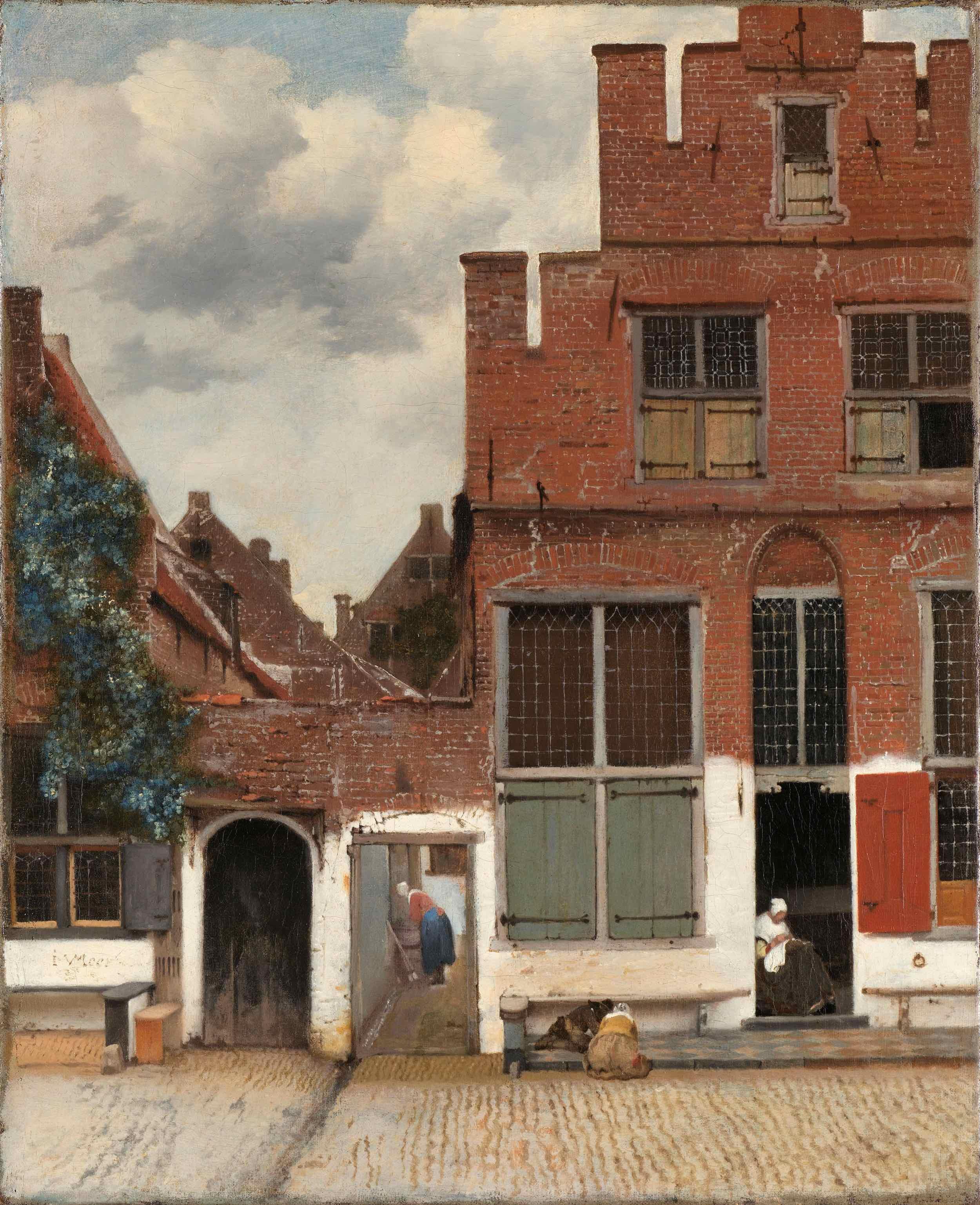 """[1658] """"Het straatje"""" van Johannes Vermeer - Rijksmuseum Amsterdam"""