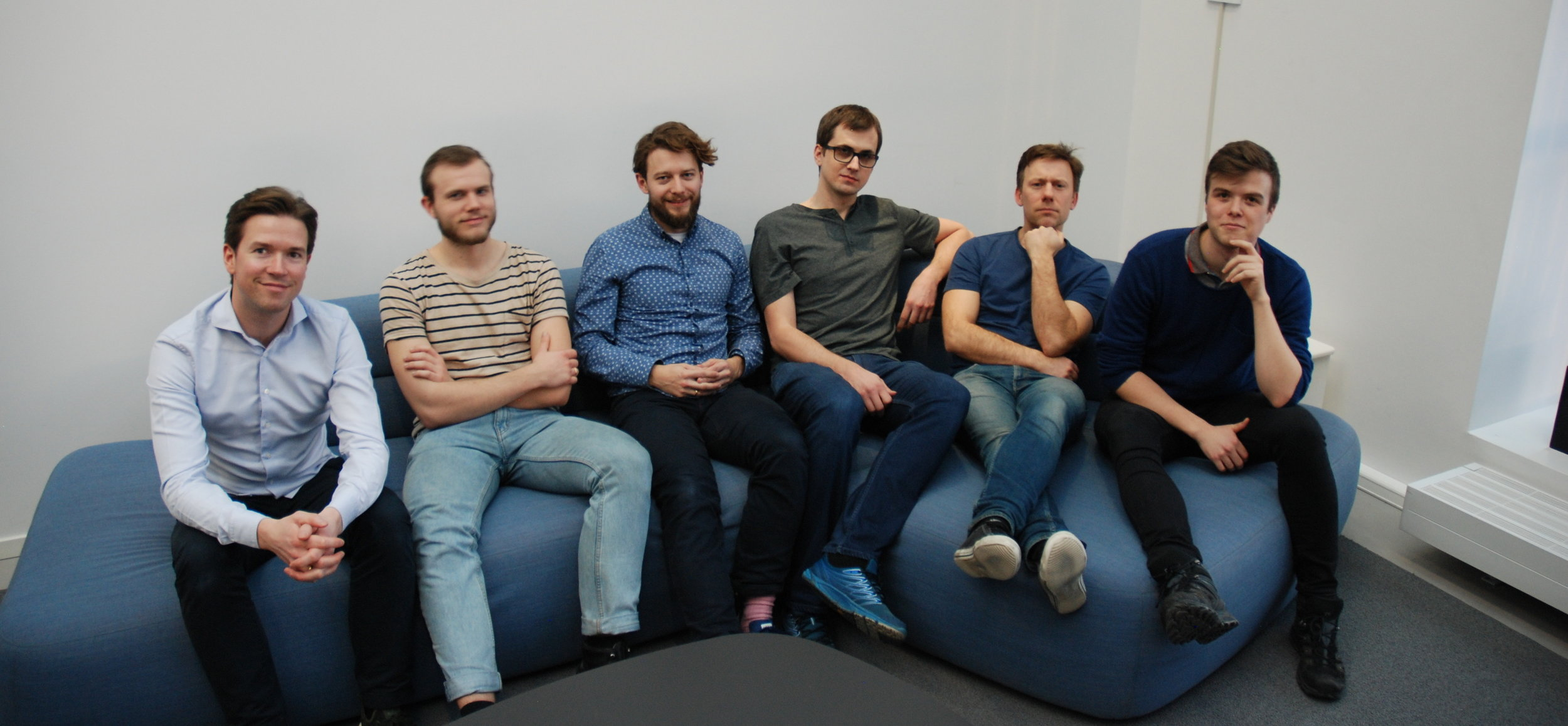 Kristoffer Almeland, Tormod Mathiesen, Nicolai Kirkeng Vennerød, Ørjan Blom, Martin Solli og Magnus Kvalevåg.