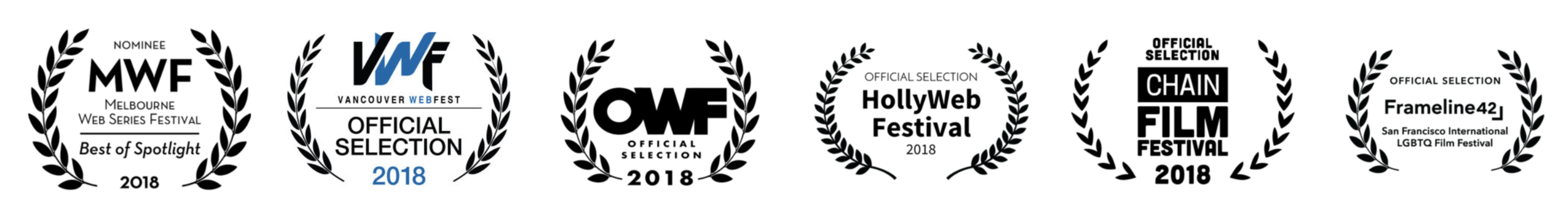 the feels, a web series about a bisexual guy, has been accepted to the melbourne web series festival, vancouver web fest, out web fest, hollyweb festival, chain film festival, and frameline san francisco international lgbtq film festival.