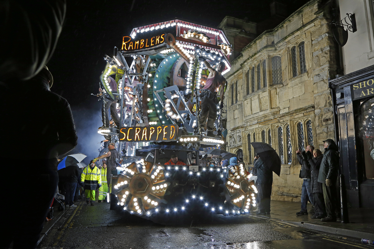 Steampunk.  The magic of Glastonbury Carnival and the extraordinary creativity of all those who design these amazing floats.