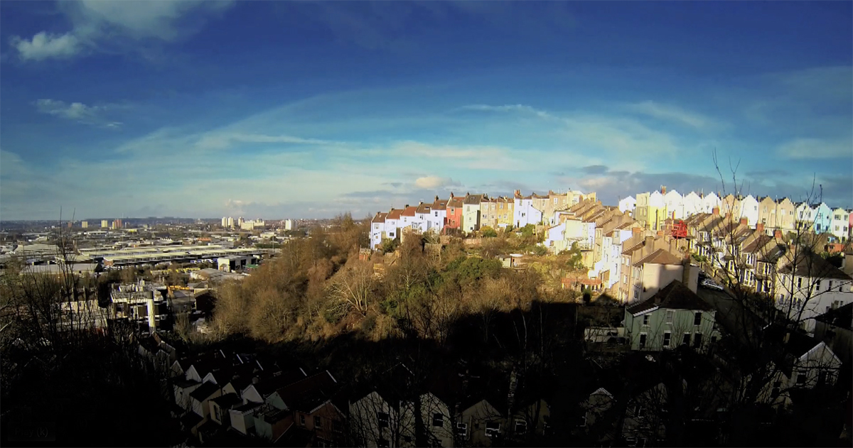 Timelapse of a  Bristol skyline forms the opening shot for a film about the work of Circles SW