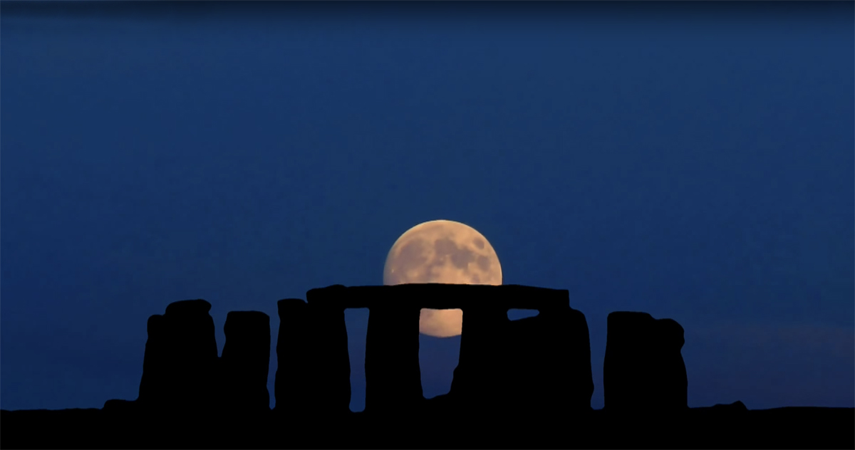 A full moon rise over Stonehenge to celebrate…. (2/3)