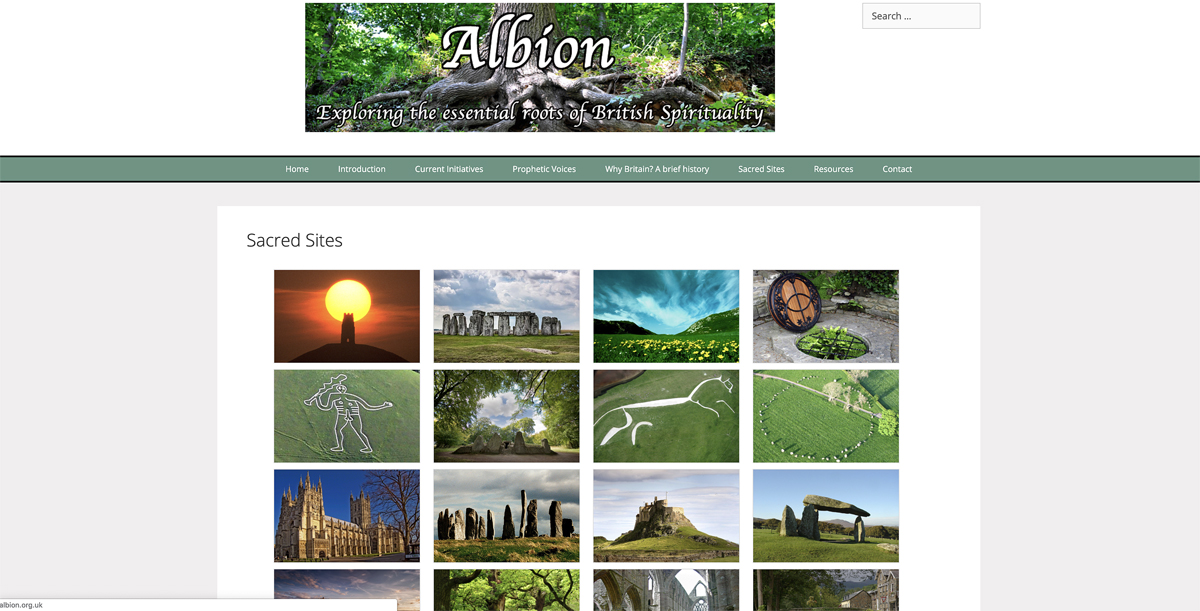 Design of the Albion website