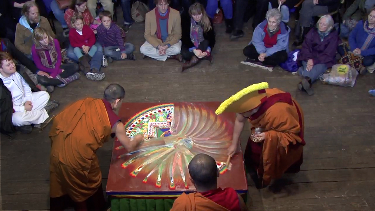 The destruction of the Mandala.  You could have heard a pin drop.  (4/4)