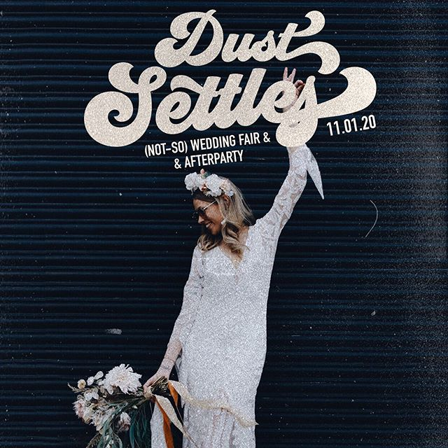 DUST SETTLES ⠀ ⠀ Incase you've been living under a rock for the past 24 hours, our fav sista duo @thecostasisters have only just gone and launched their very own (not-so) WEDDING FAIR + AFTER PARTY @dust.settles 🖤 Oh... and did we mention it's all taking place at our shiny new events space!? UH, HELL YAH IT IS! ⠀ ⠀ ⚡️DUST SETTLES⚡️is event with purpose, consisting of the most #BADASS vendors in the industry who will collaborate + showcase the ultimate wedding experience for the modern couple🤘🏼⠀ ⠀ For allll the details + how you can get your hands on some tickets give @dust.settles a follow! ⠀ ⠀ ⠀