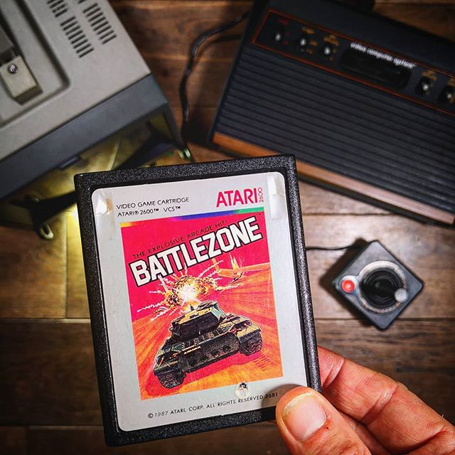 Game you wanted to own back in the day.. but DO now⁉️🤔⁣ ⁣ Big shout @sore.thumb.retro.games for hooking me up with this graphically intense Atari 2600 chip-melter 👊💥