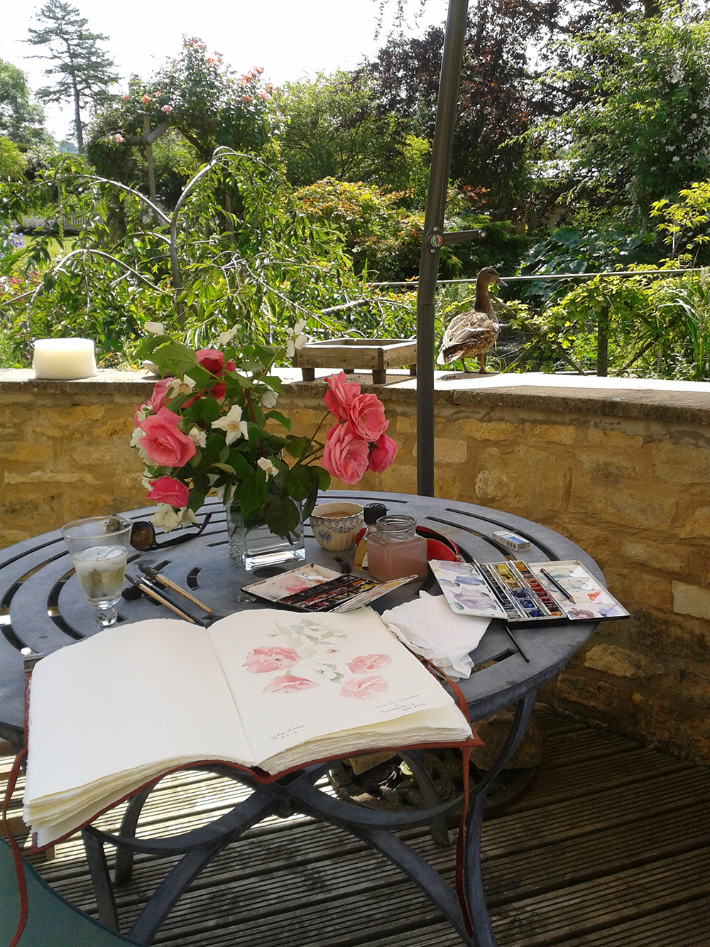 Pink-Harrison-Artist-Watercolour-Painting-In-Her-Beautiful-Garden.jpg