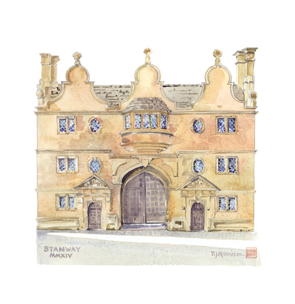 "The Gatehouse, Stanway 14.5"" x 13"" £160"