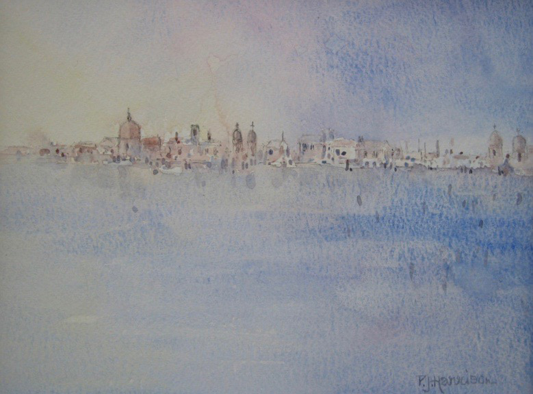 VENICE LAGOON watercolour sold