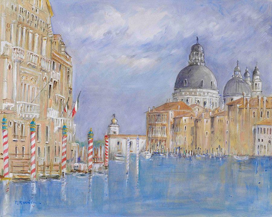 """GRAND CANAL, VENICE - OIL* oil on canvas 31"""" x 37"""" (framed)"""