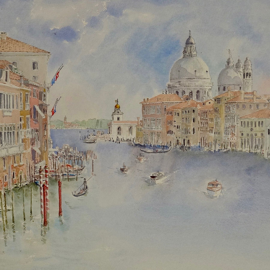 GRAND CANAL, VENICE - WATERCOLOUR sold