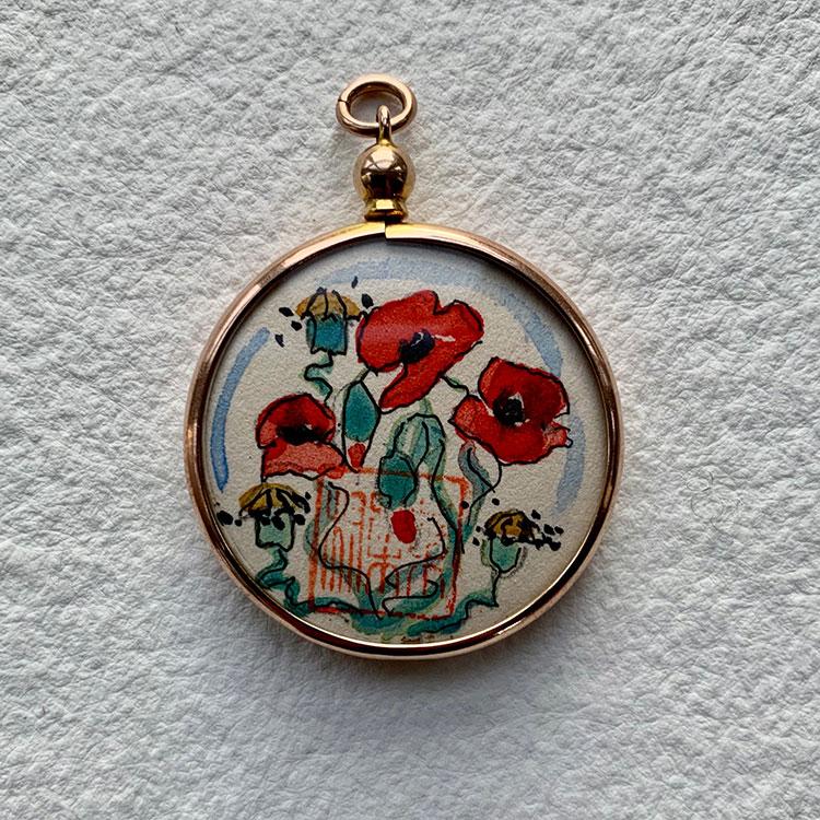& Poppies £380 3.5 x 3cm