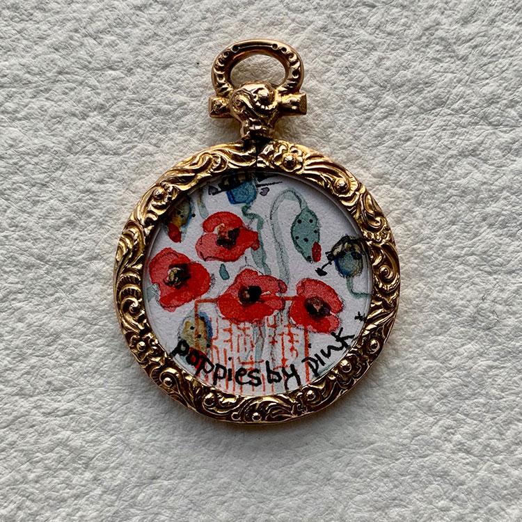 & Poppies £400 3.5 x 3cm