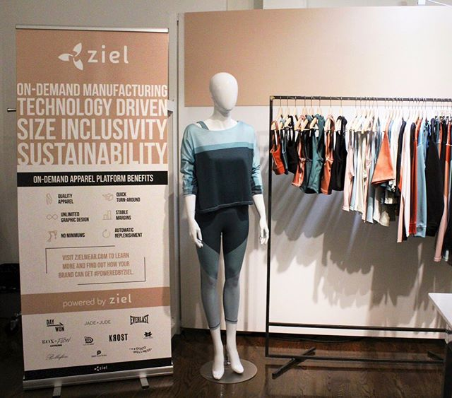 Excited to debut @shopjadeandjude at @active_collective NY! Come and check out the latest from Ziel in our booth, #6. * * * #activecollective #tradeshow #NYC #sustainablefashion #ecofriendly #ondemandmanufacturing #sizeinclusivity #newyork #technology #apparel #poweredbyziel