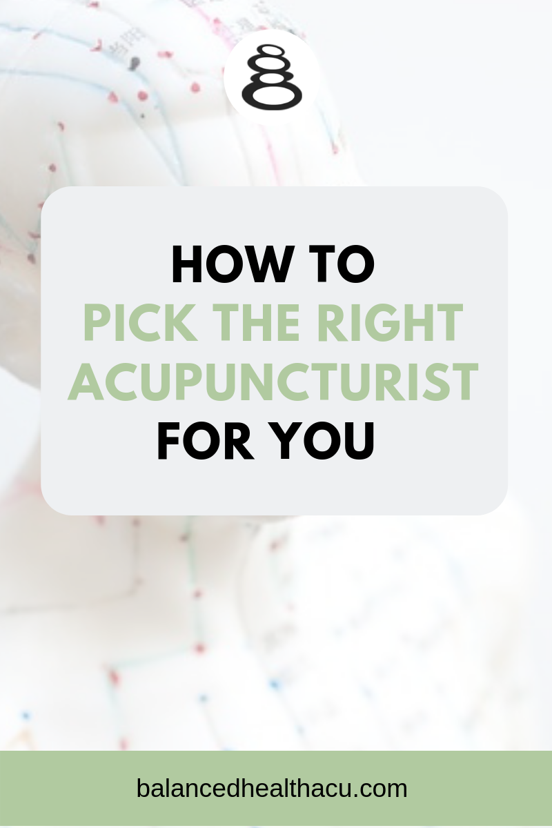 Ready to try acupuncture but unsure how to pick an acupuncturist? Find the right acupuncturist for you by following my guidelines and tips.