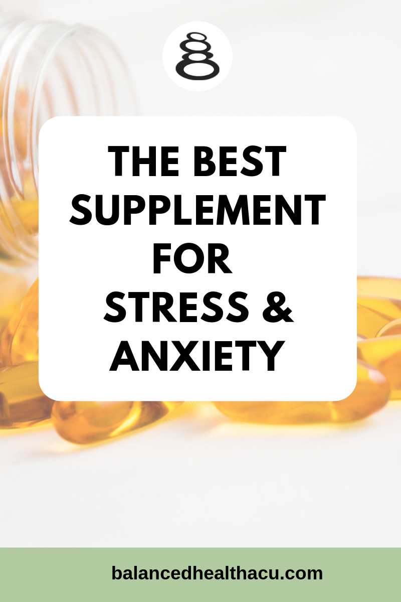 The best supplement for stress and anxiety that I recommend is magnesium because this mineral can reduce several of the physical and emotional symptoms of stress and anxiety such as feeling overwhelmed or irritable, having tight muscles or overall muscle tension, difficulty sleeping and reduced concentration.