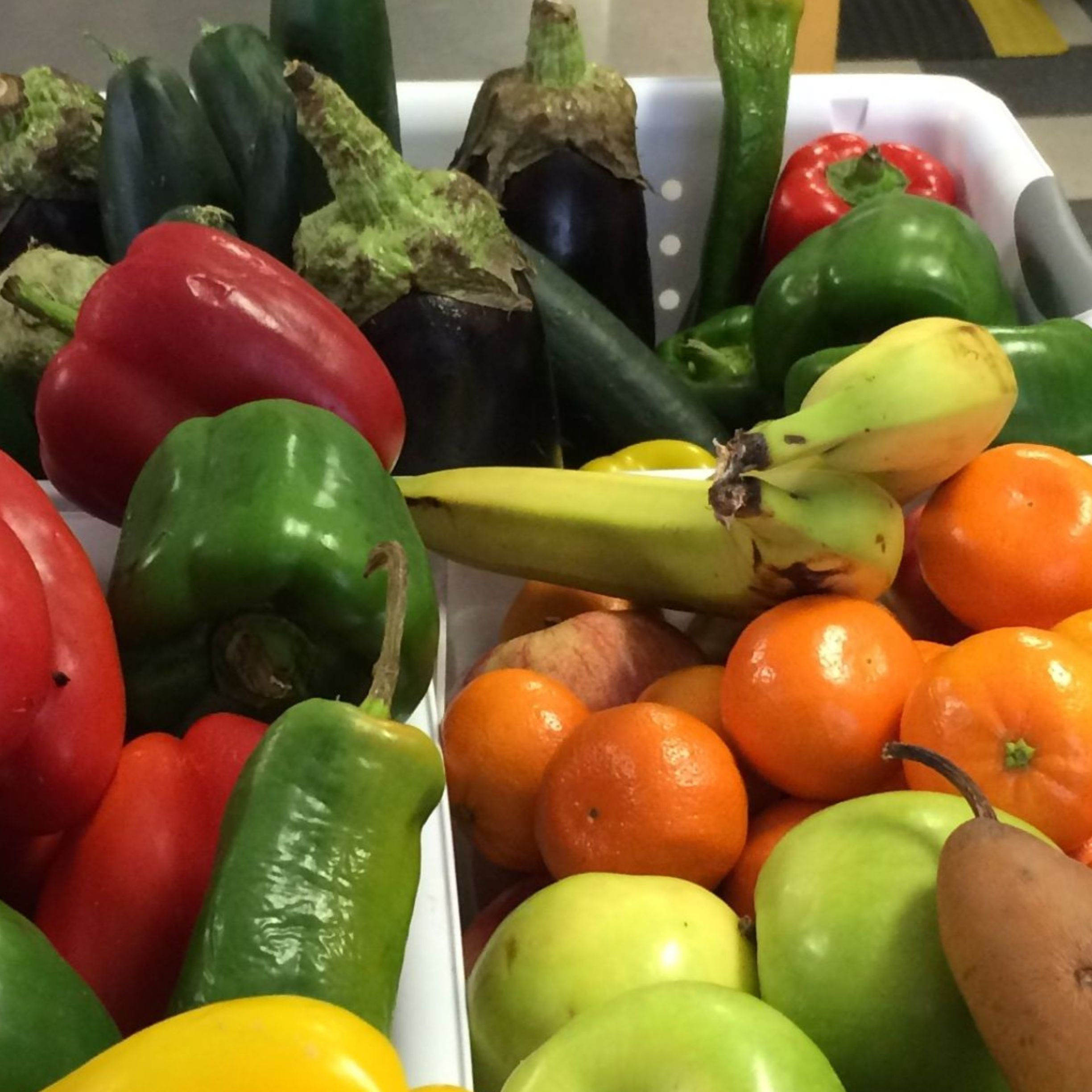 We received and distributed over 7,000 pounds of fresh fruits and vegetables donated by local farms. -