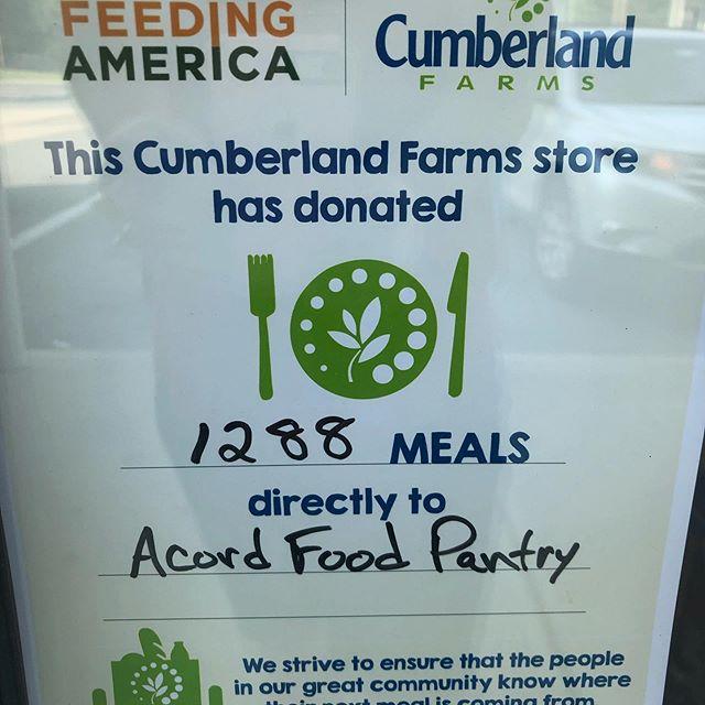 Thanks Cumberland Farms in Hamilton!