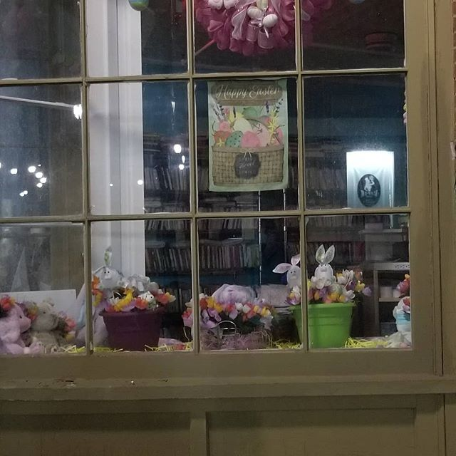 Our Easter window display
