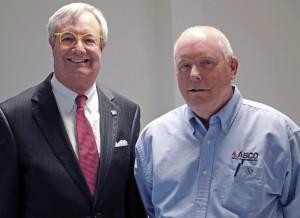 Commerce Secretary John E. Skvarla and ABCO president Brad Kemmerer