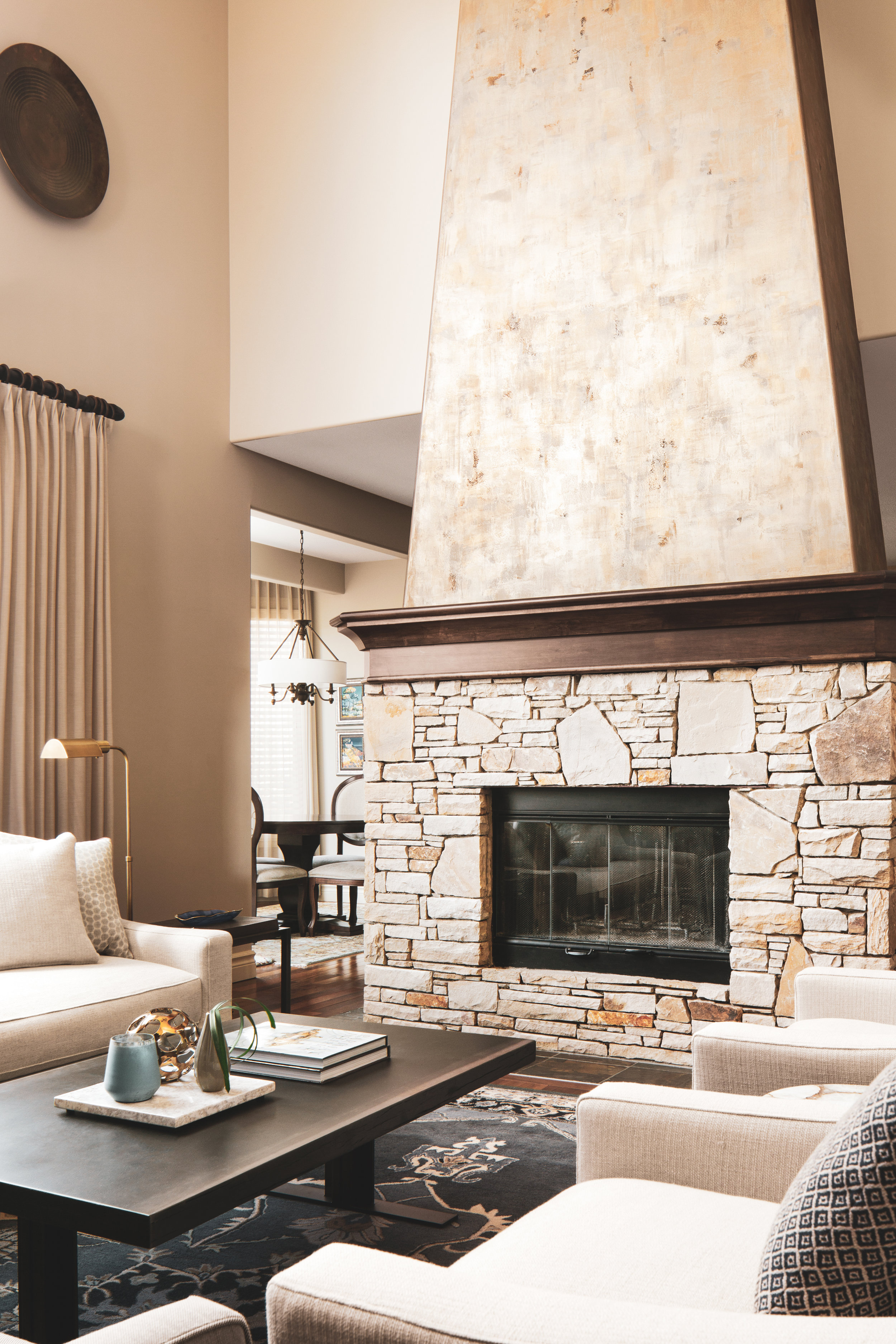 SPRINGBANK Residence - We were brought in to update the decor and furnishings of this custom home build in a more traditional french country style.The finished spaces needed to be ready for entertaining guests and durable enough for a heard-wearing family of four.