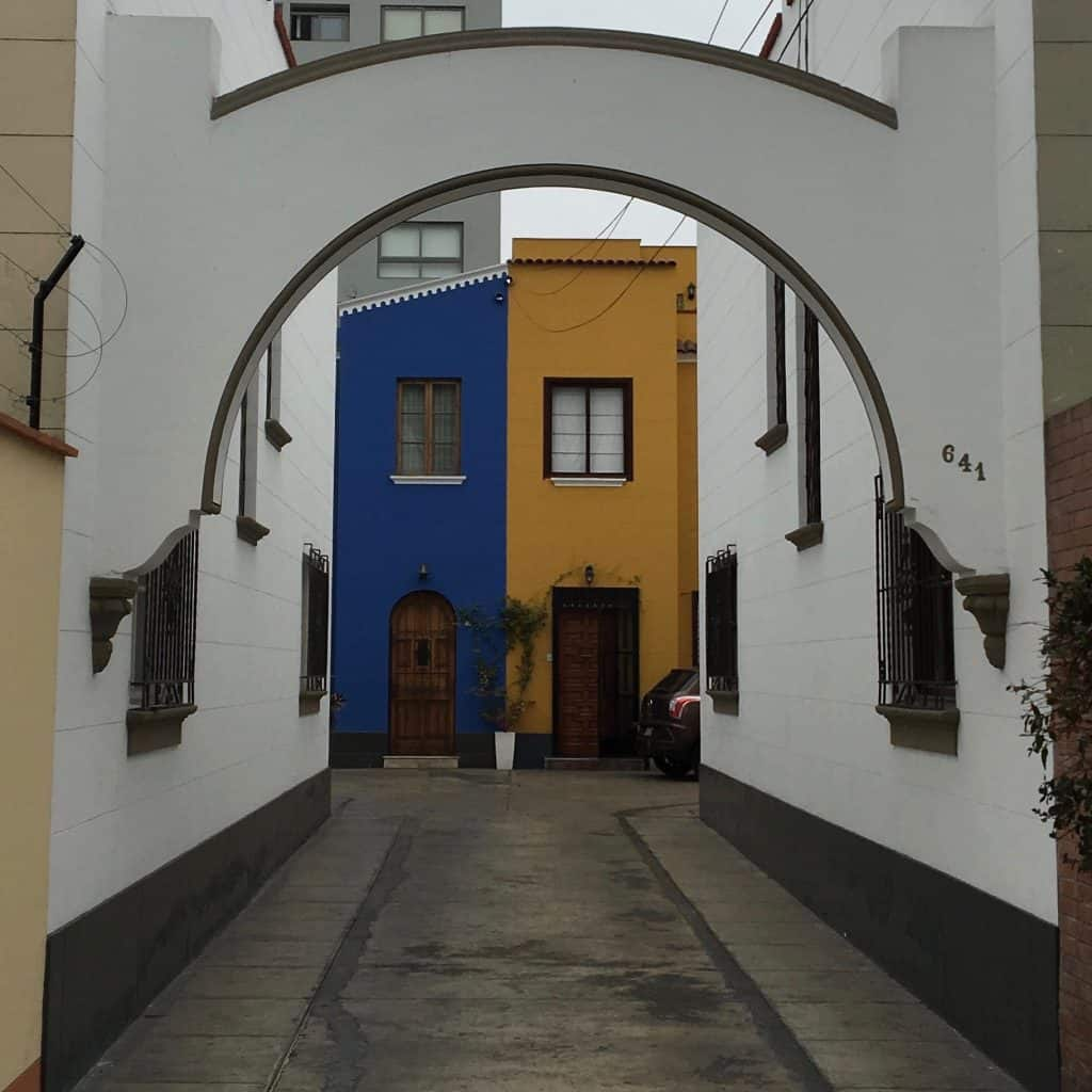 courtyard in lima