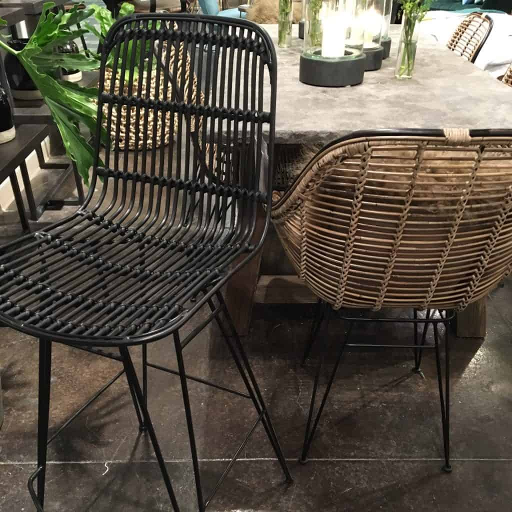 open weave chairs