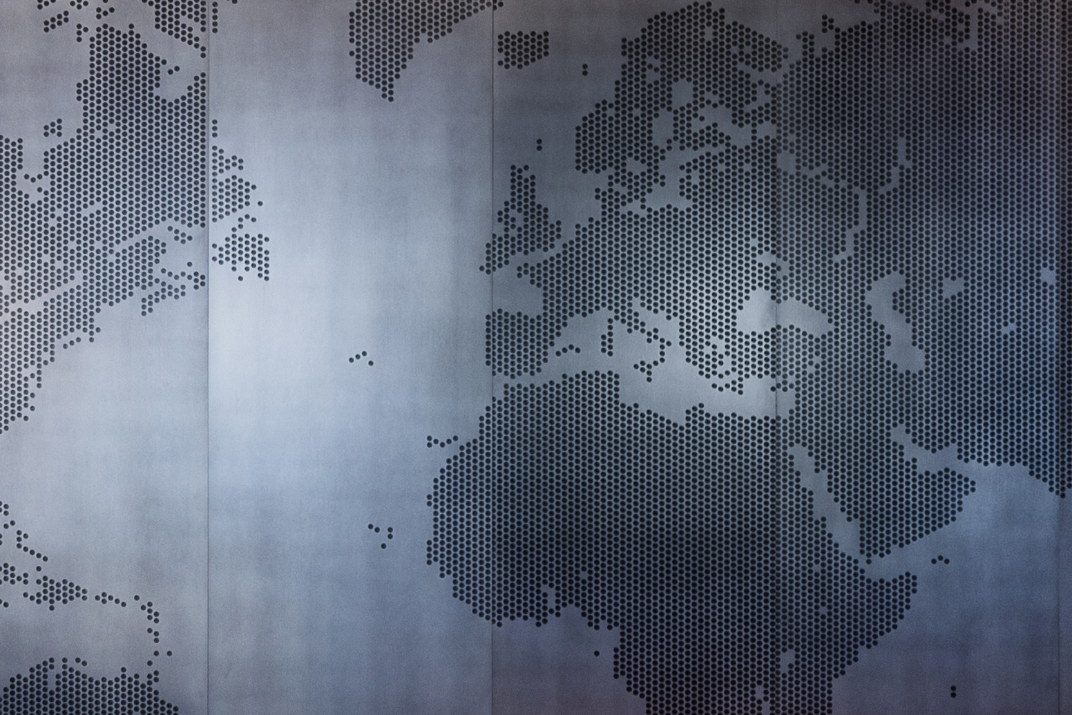 Laser Etched World Map