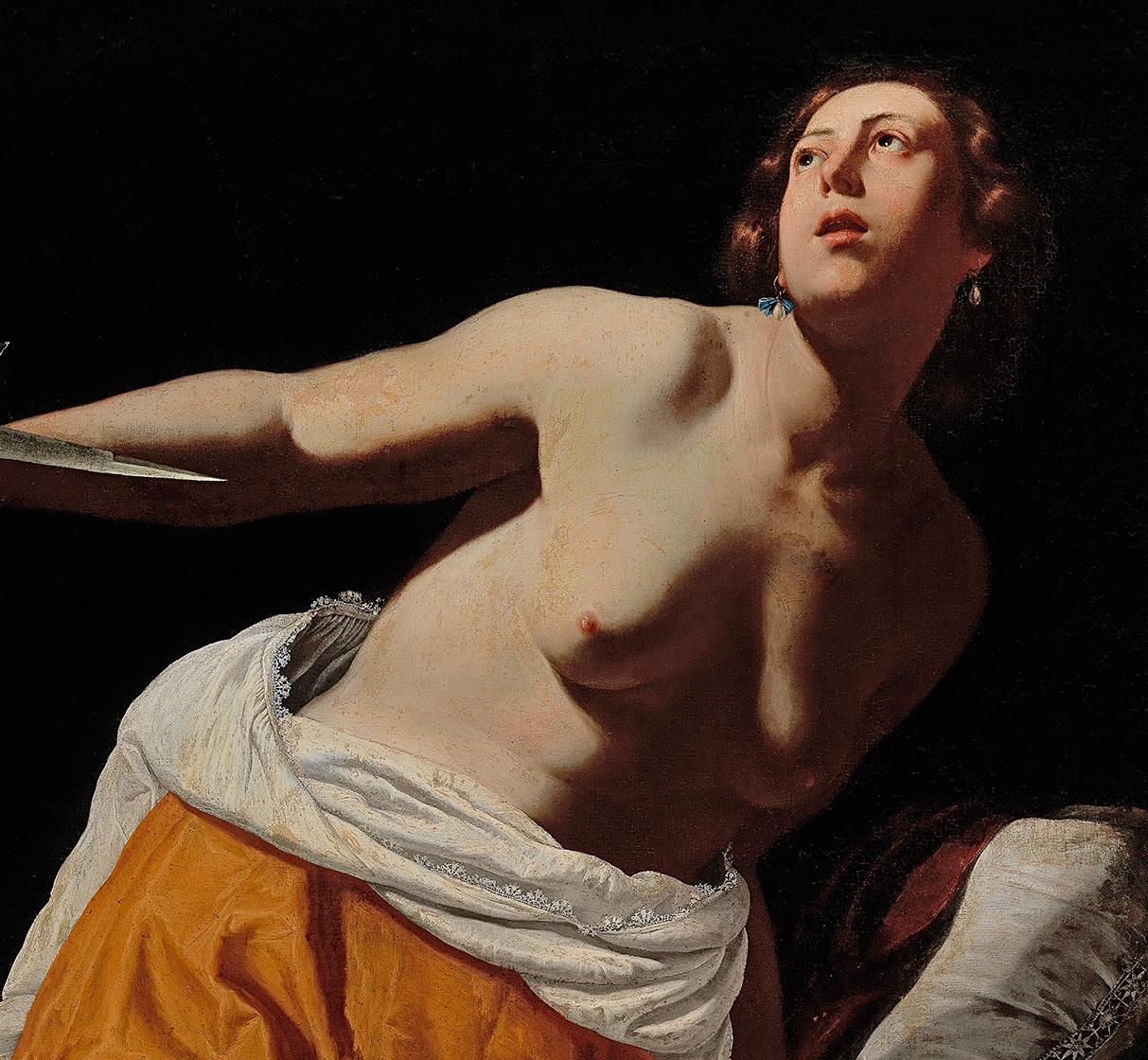 Artemisia Gentileschi,  Lucretia , oil on canvas (Copyright: Dorotheum)