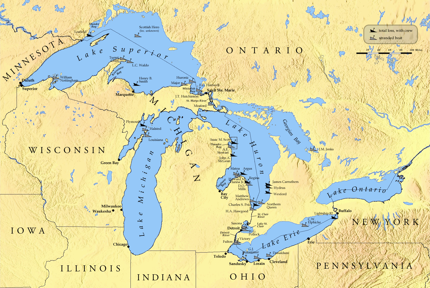 Danger in the great lakes - New Potential Danger Brewing in the Great Lakes Due to Global Warming