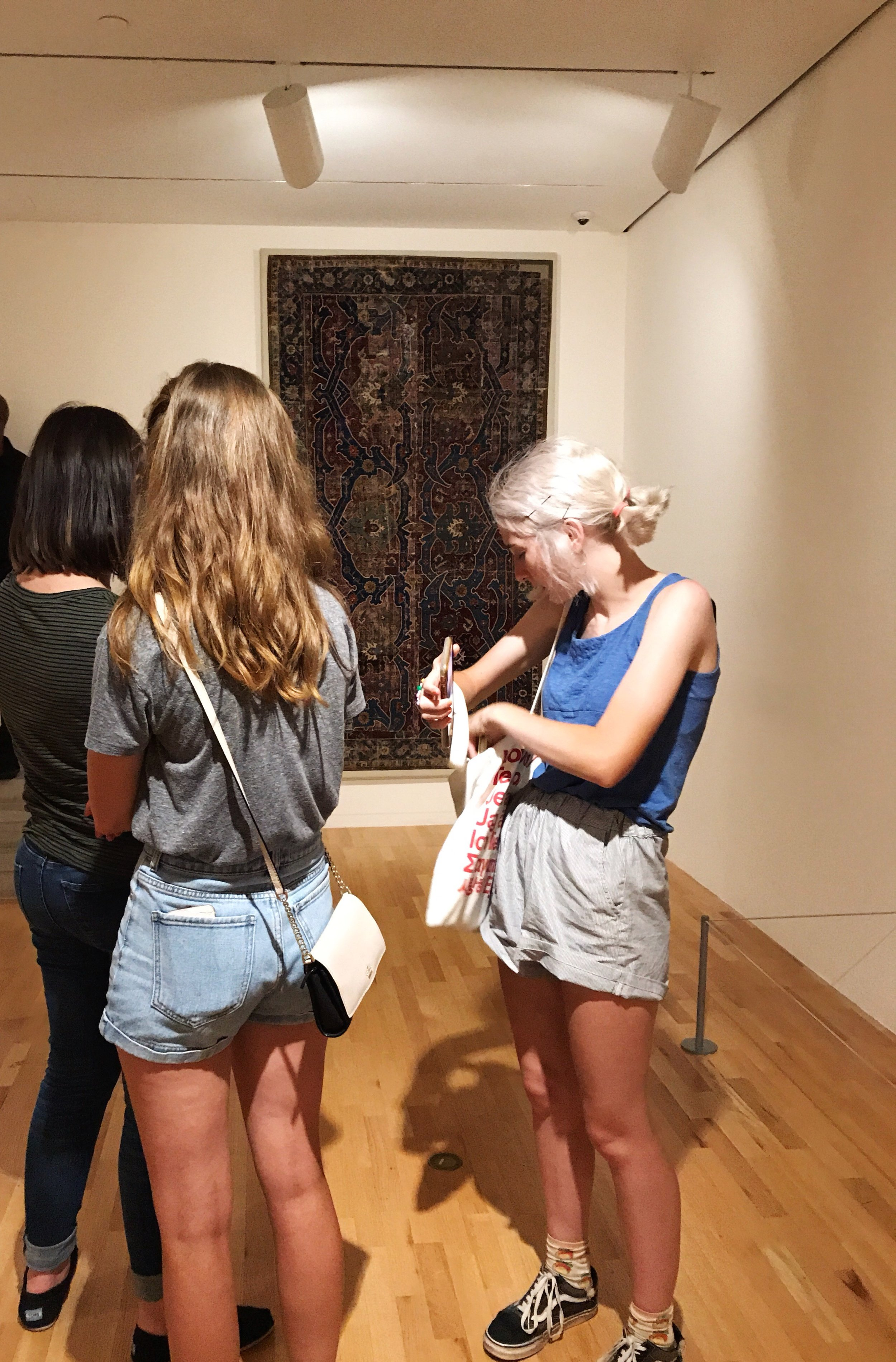 sisters in the Dallas museum of art.JPG