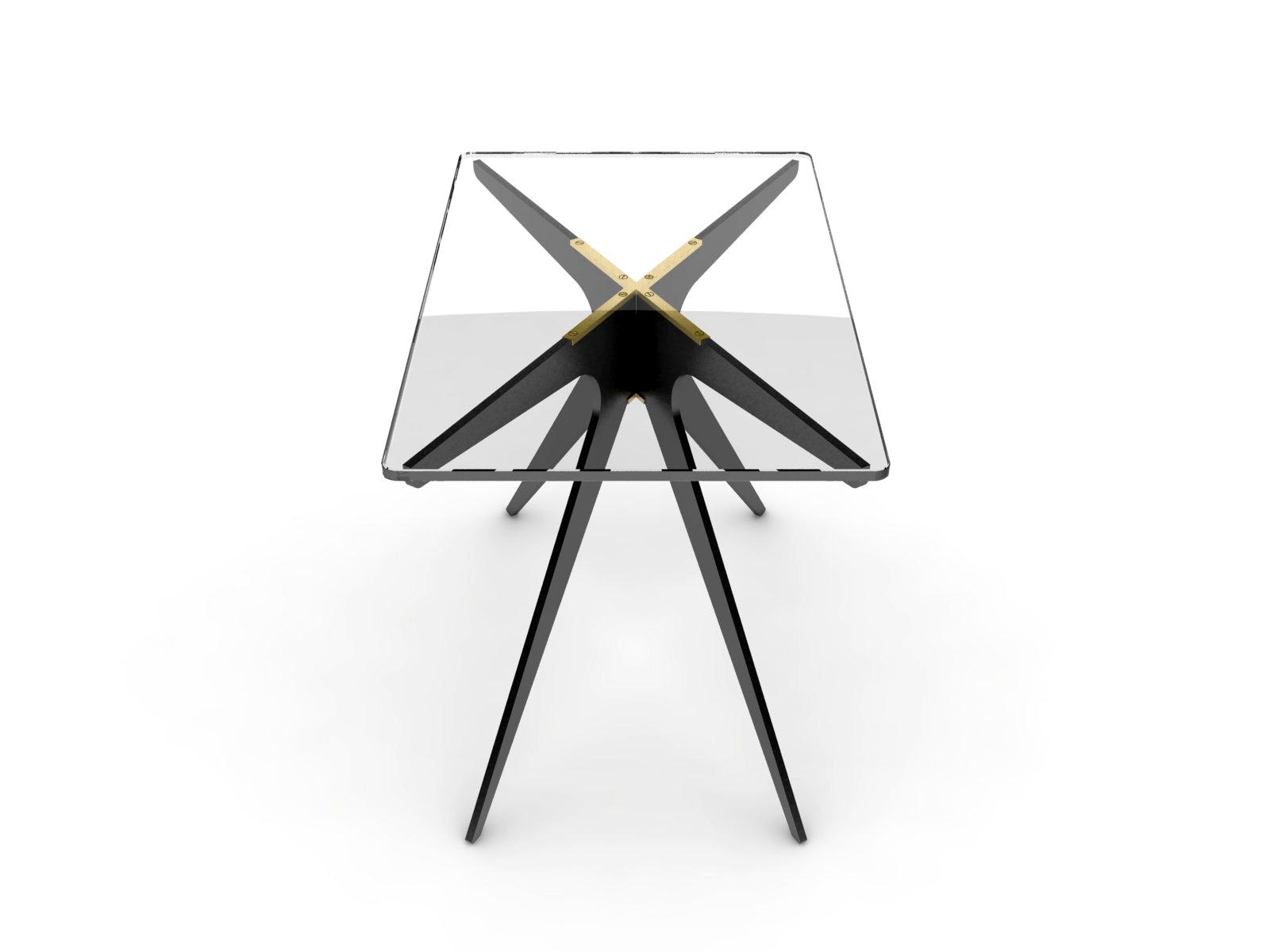 DEAN Rectangular Side Table - Black: Clear 2.jpg