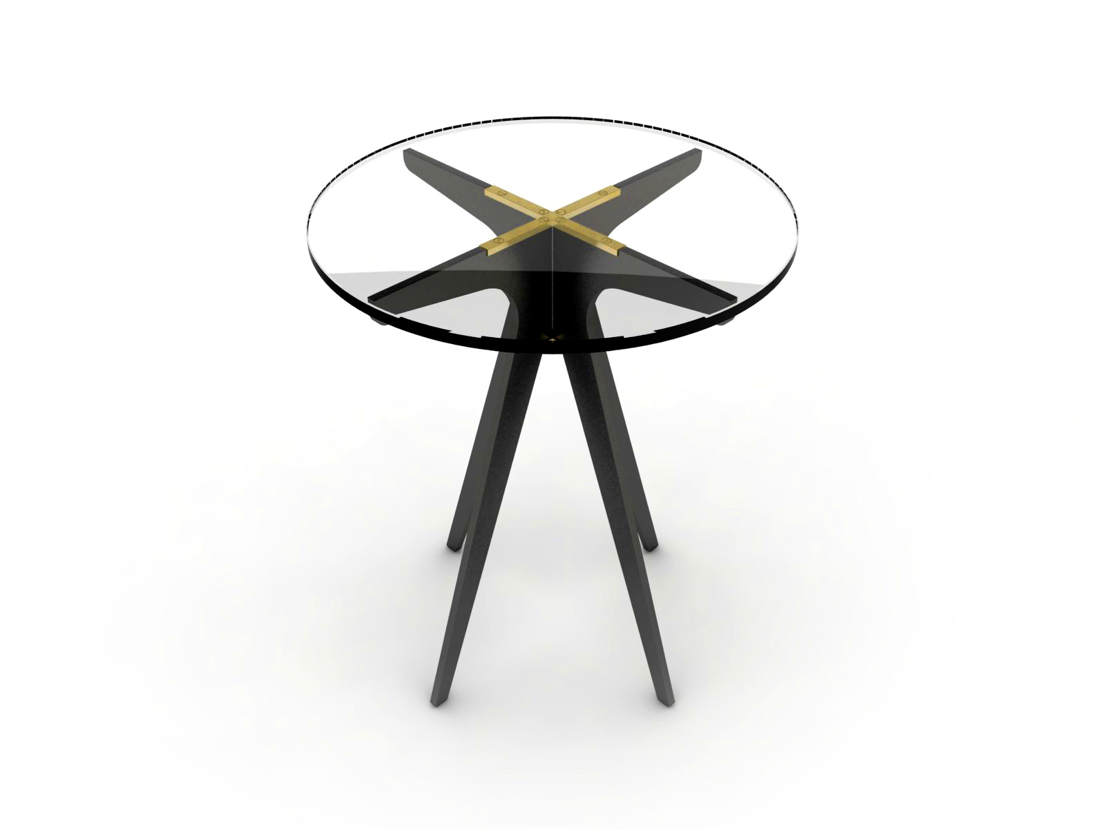 DEAN Round Side Table - Black: Clear.jpg