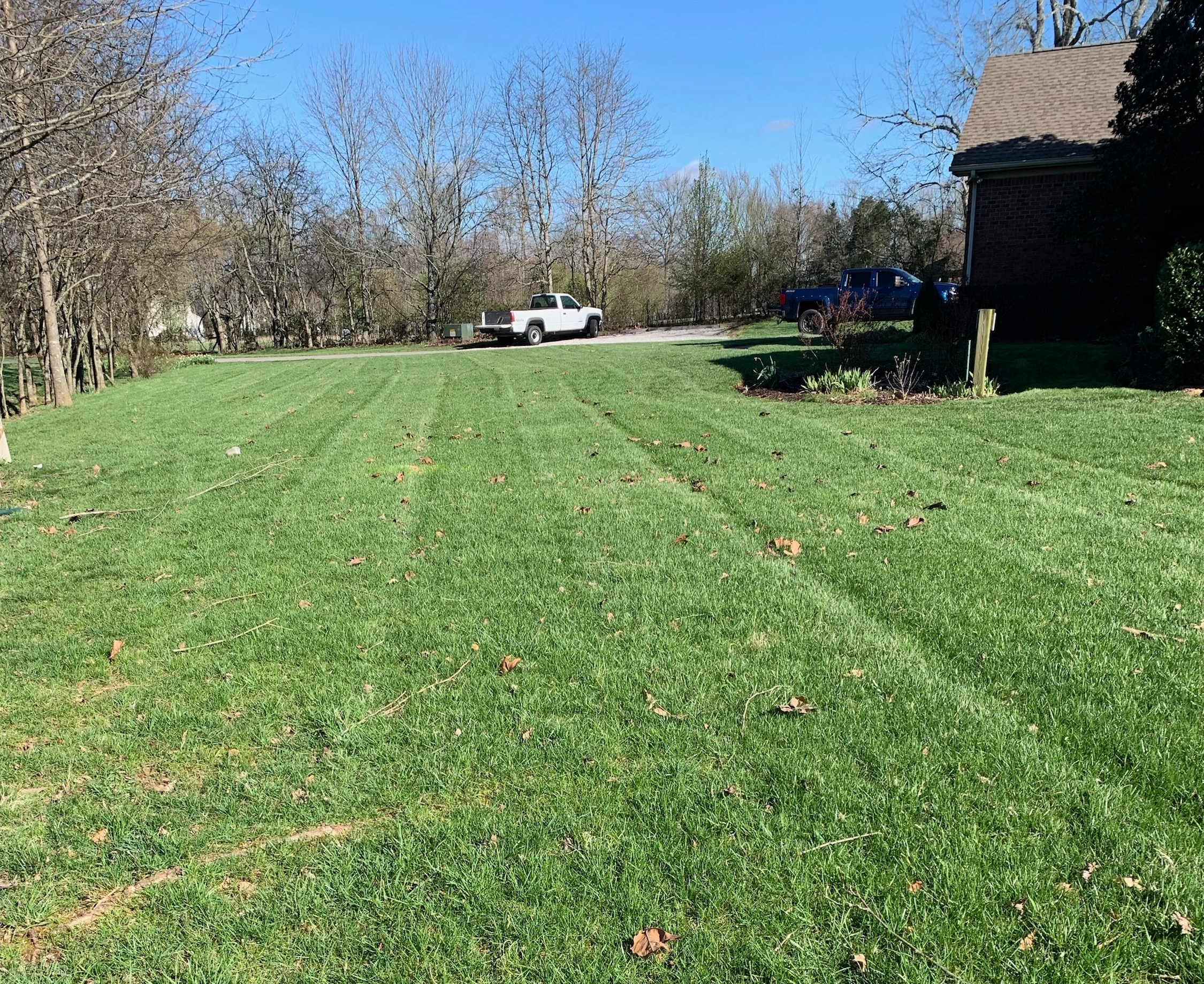 Treatment 3: - Weed Control and Air8 (April – May) Herbicides control weeds in lawn. Air8 is a liquid aerator that alleviates compaction and promotes deep root growth.