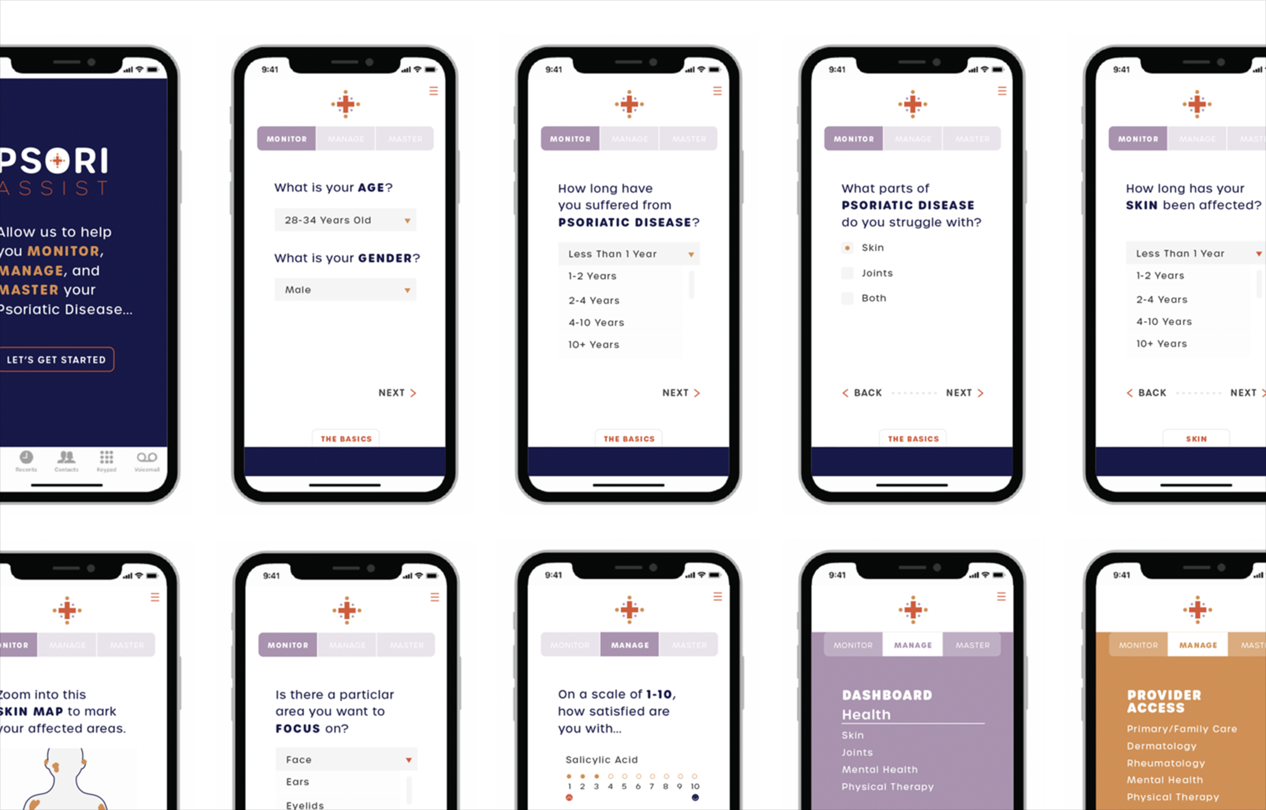 PsoriassistWireframes