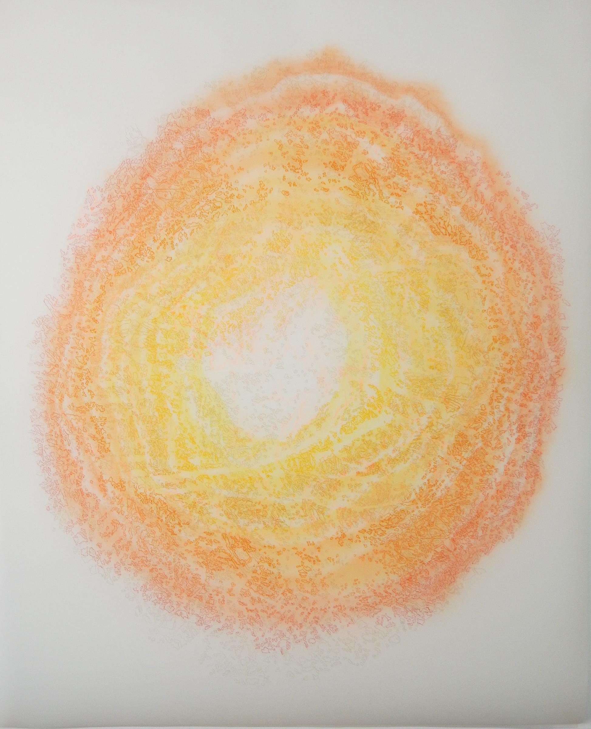 """Oak,  2016  Duralar, colored pencil, marker. 49"""" x 40"""""""