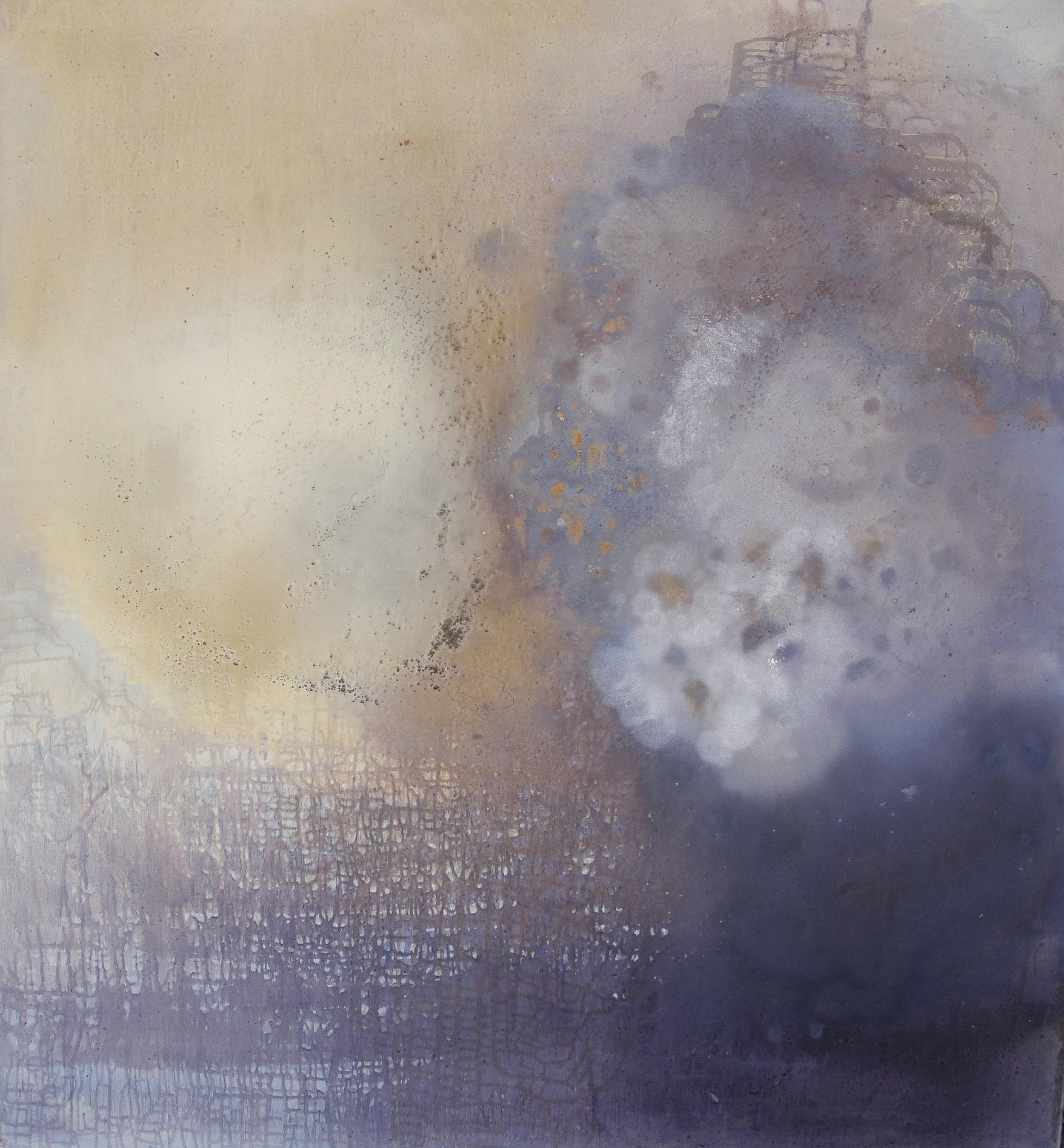 "Cosmic Cloud,  2011  Oil on panel, 58"" x 54"""