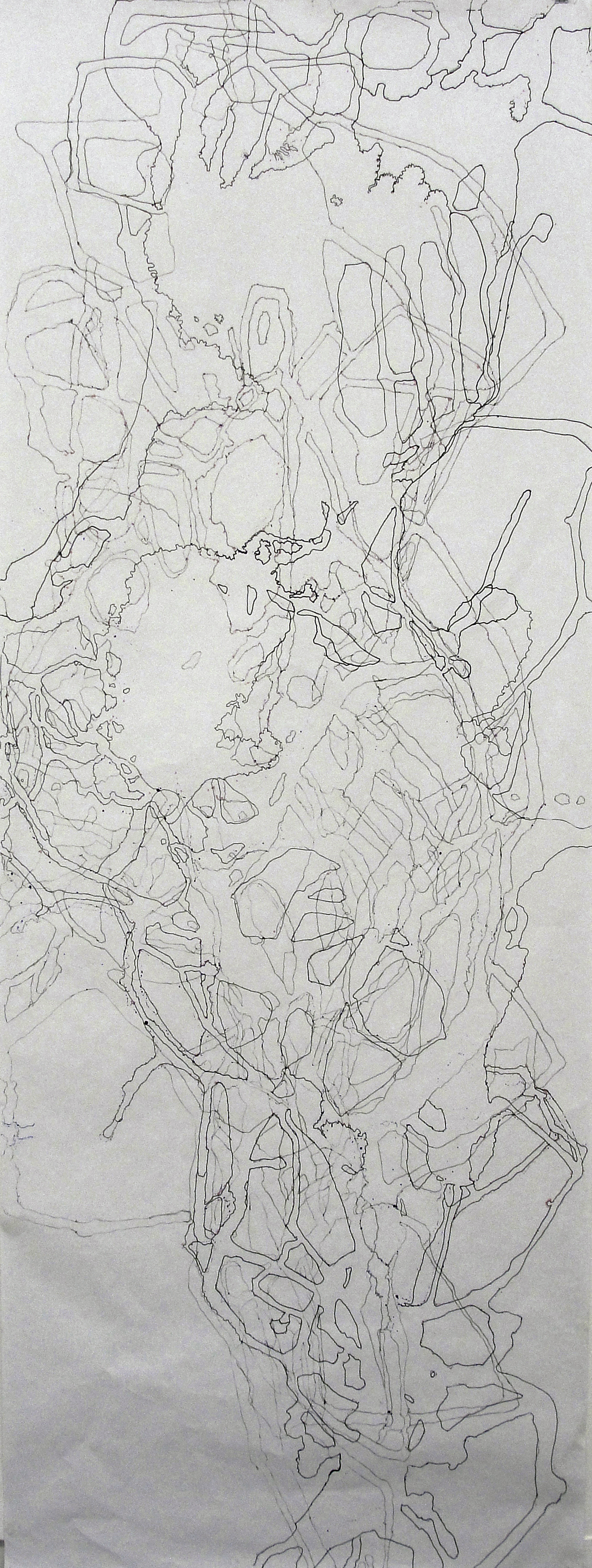 """Tracing from Emerging/Study for Vortex  Paper and markers. 98"""" x 36"""""""