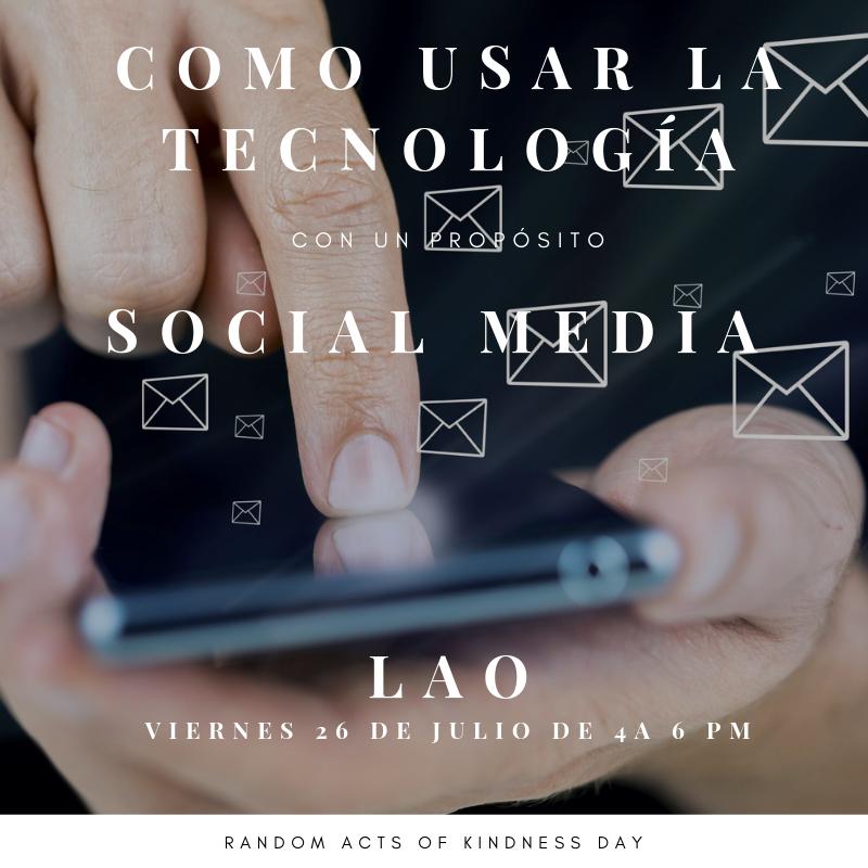 CÓMO USAR LA TECNOLOGÍA CON UN PROPÓSITO - SOCIAL MEDIA - Sé el productor de tus propias ideas...Te has preguntado cuáles son los efectos negativos de usar social media en las actuales generaciones?Cuántas veces al día quedas fascinado por las vidas de los demás en tus redes sociales y NO en la tuya?Una regla debería ser usar el