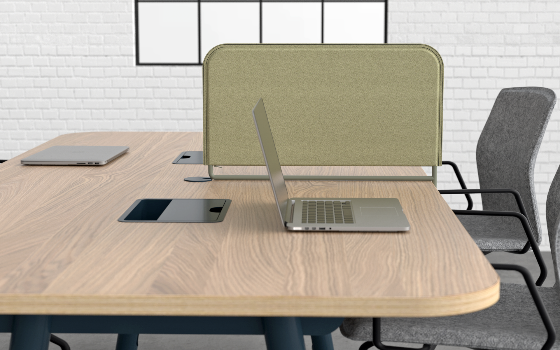 Create privacy in open meeting rooms