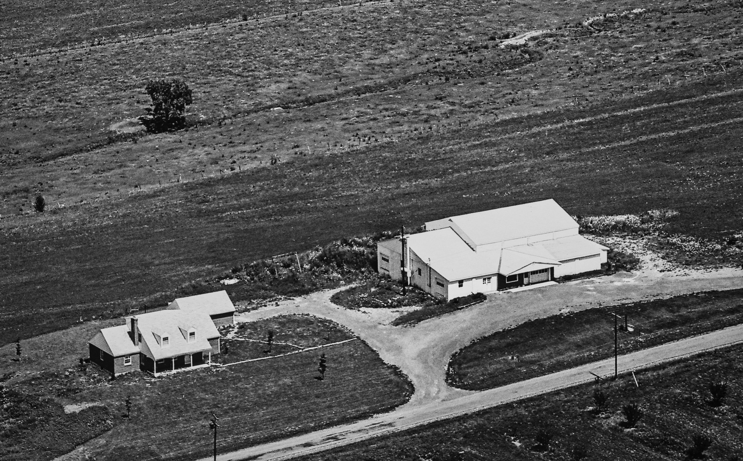 Way Fruit Farm's apple storage facility and store in 1963.