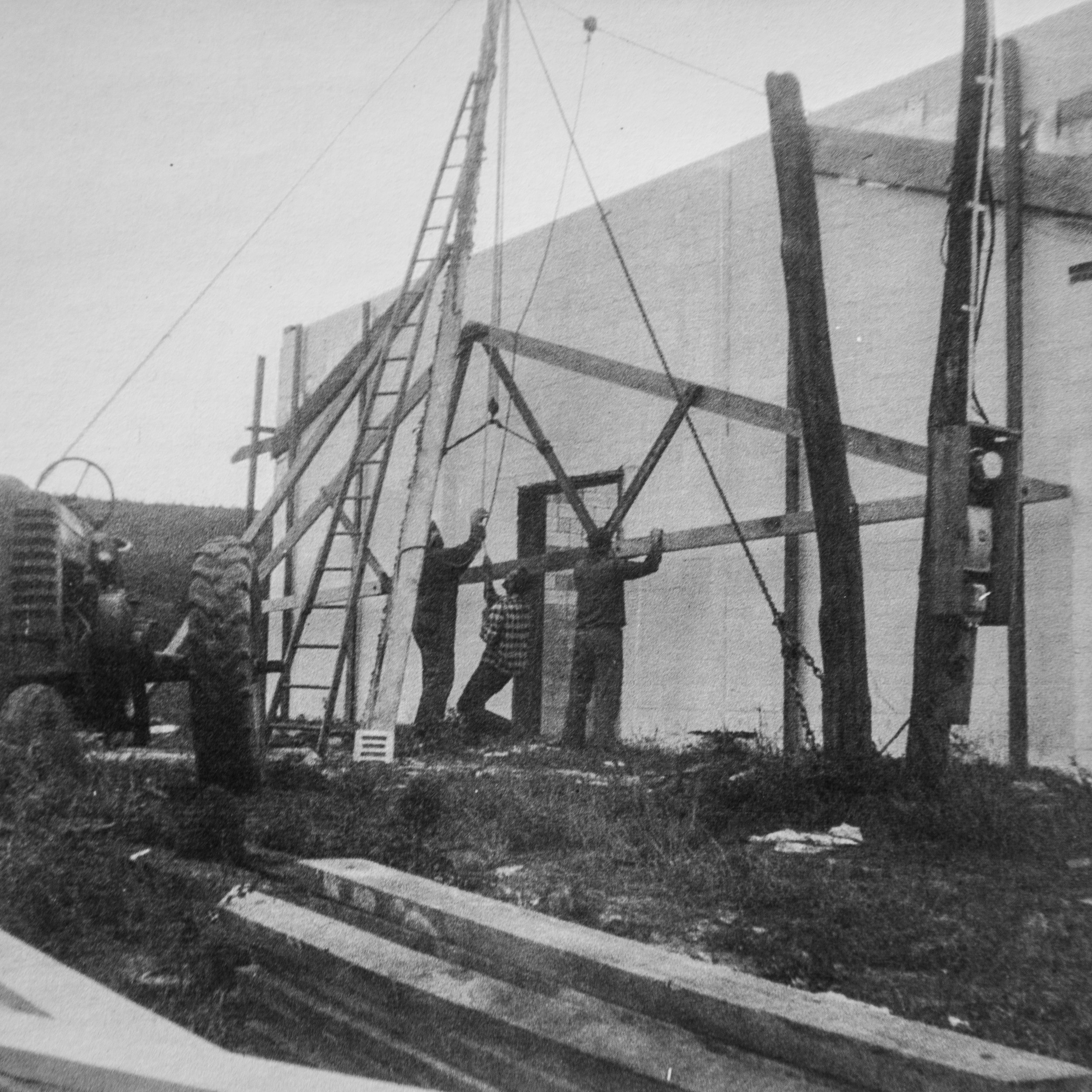 Construction of the storage/store 1958.