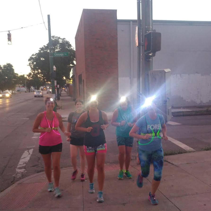 Light Brigade running through west side of Columbus, Ohio.