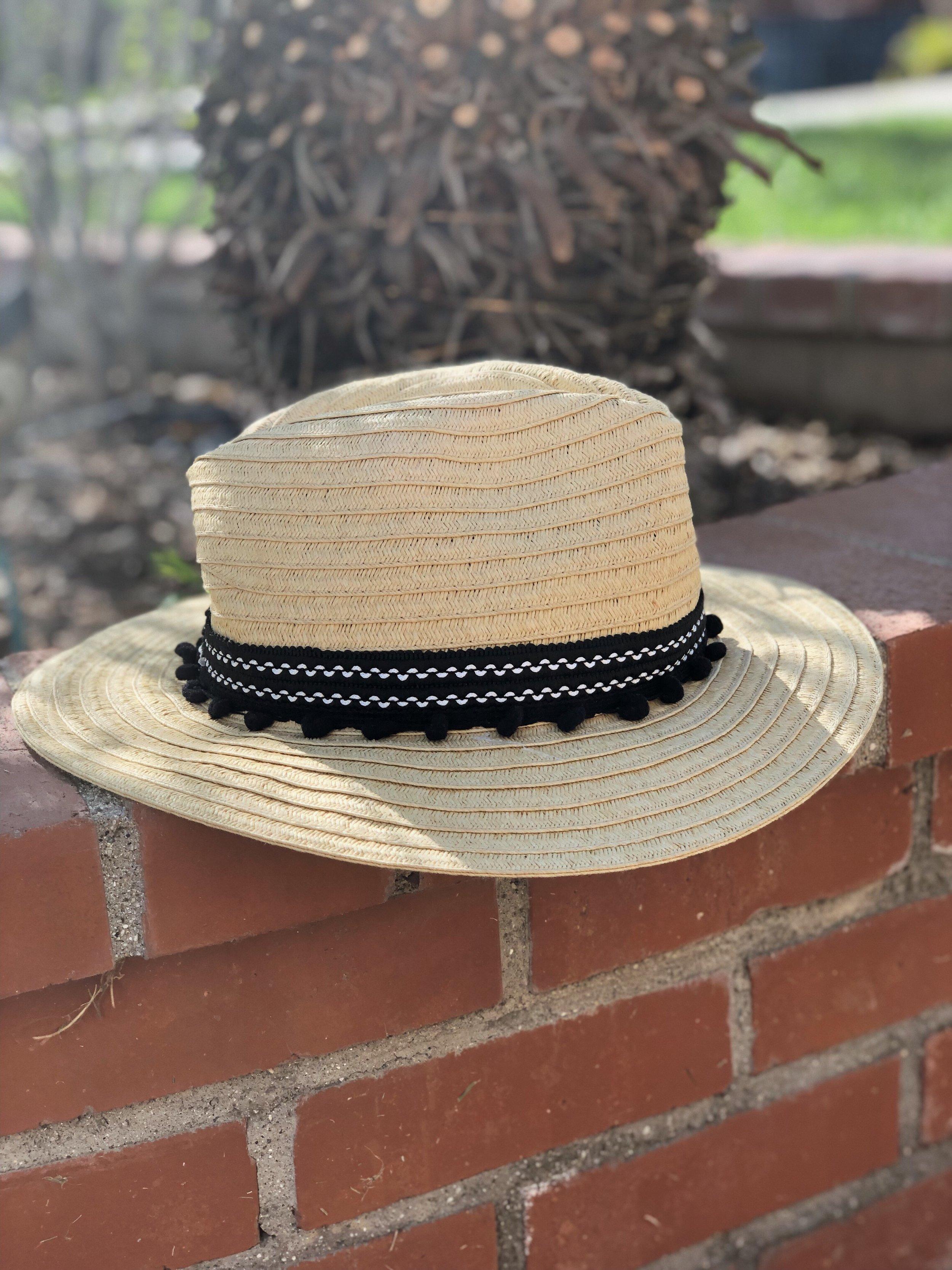 PomPom Beach Hat