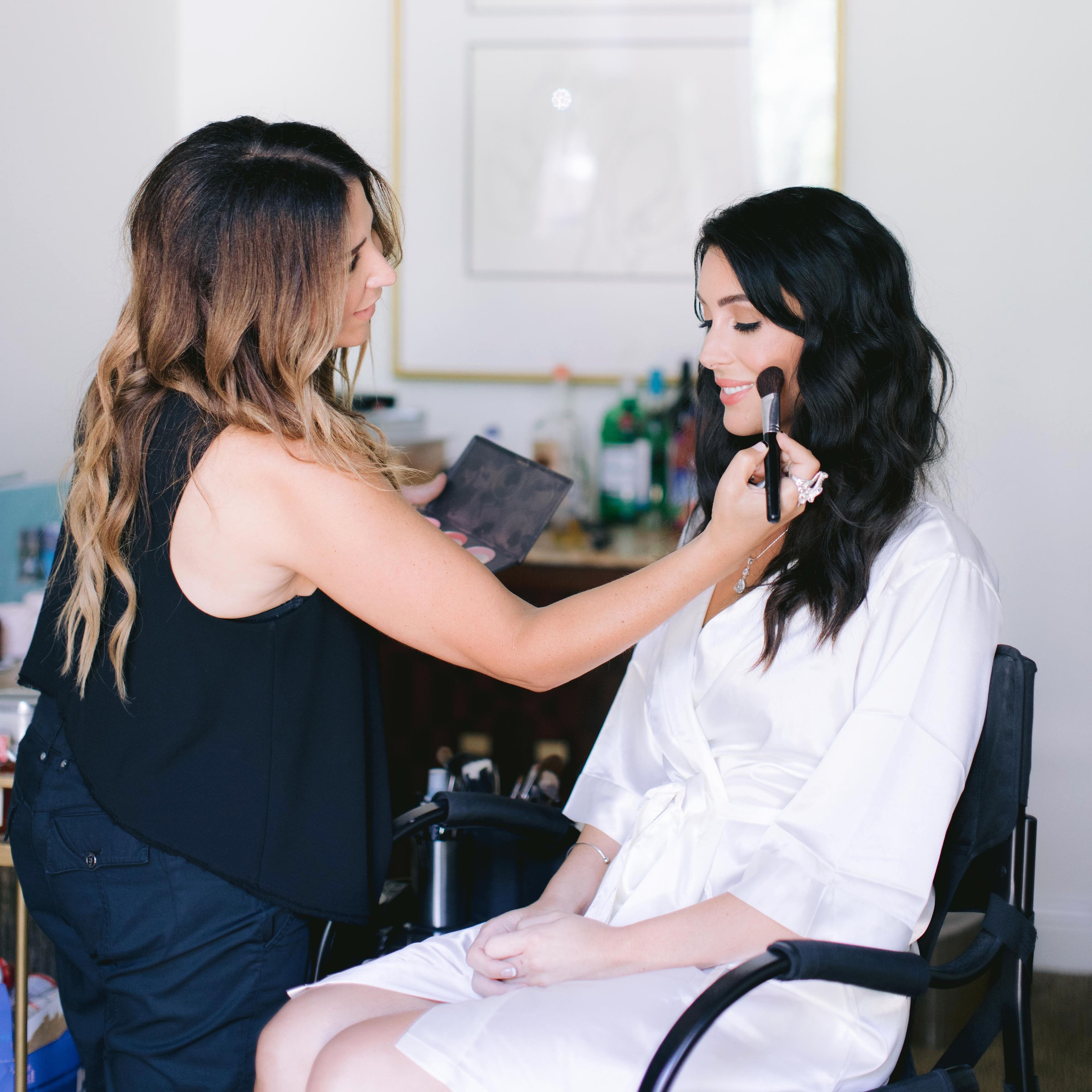 The talented  Tara Dowburd  creating a natural elegant makeup look. All of the ladies, including myself had our hair styled by an incredible team from  Benjamin Salon .
