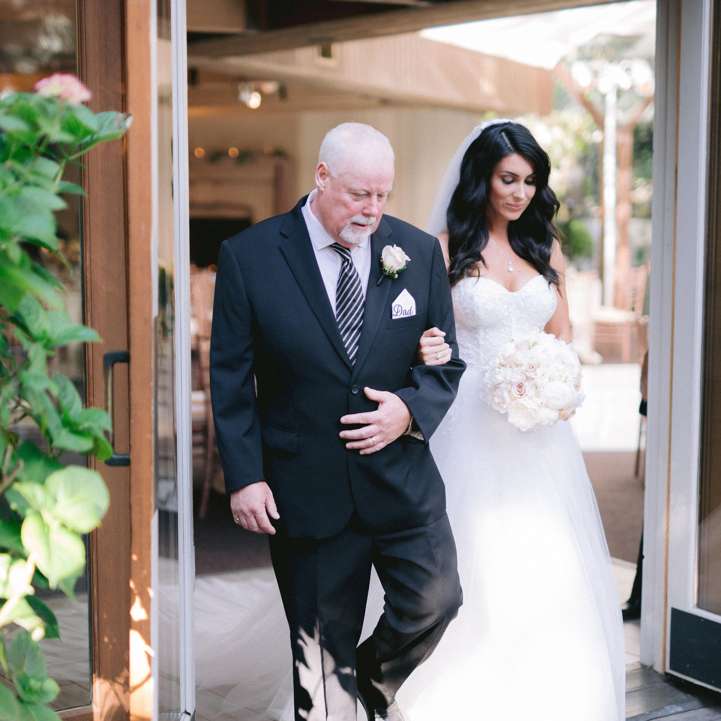 My dad walked me down the aisle.