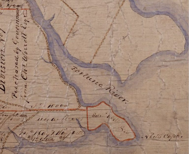 Early map of the Bay Fortune Area. Date unknown.
