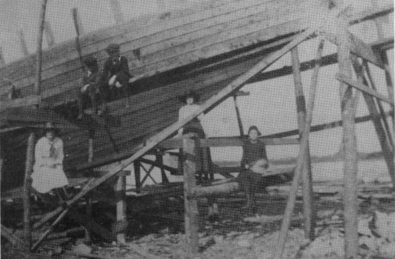 Building a ship in Fortune. Date unknown.