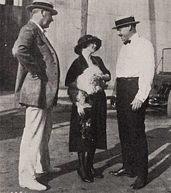 Elmer Harris, right, in 1921